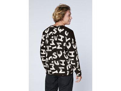 CHIEMSEE Sweatshirt mit coolem Alloverprint - GOTS-Zertifiziert Silber