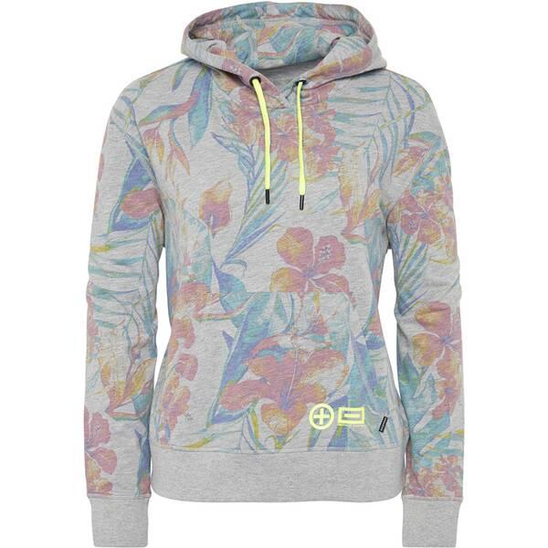 CHIEMSEE Sweatshirt mit Blumenprint und Neon-Details