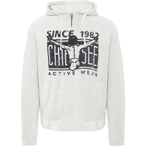 CHIEMSEE Sweatshirt aus Frottee mit kleinem Reißverschluss