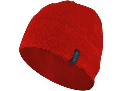 JAKO Unisex Fleecemütze Rot
