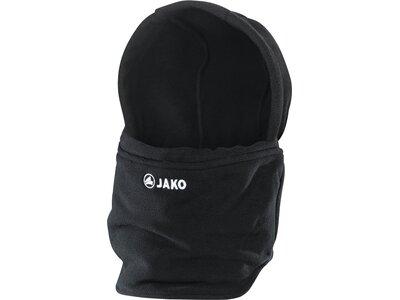 JAKO Unisex Neckwarmer mit Mütze Schwarz