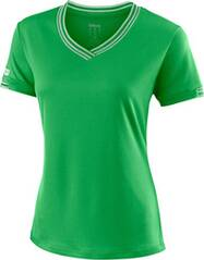 WILSON Damen Tennisshirt Team V-Neck Kurzarm