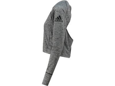 ADIDAS Damen Fitness-Shirt Langarm Grau