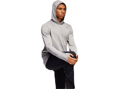 "ADIDAS Herren Lauf-Hoodie ""Own The Run"" Grau"