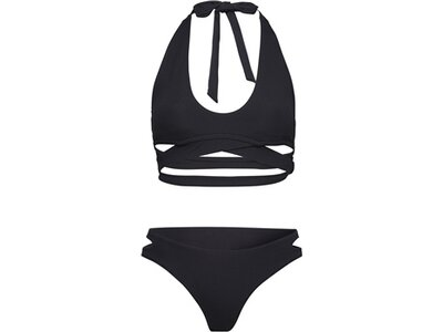 CHIEMSEE Bikini in modischer Wickel-Optik Schwarz