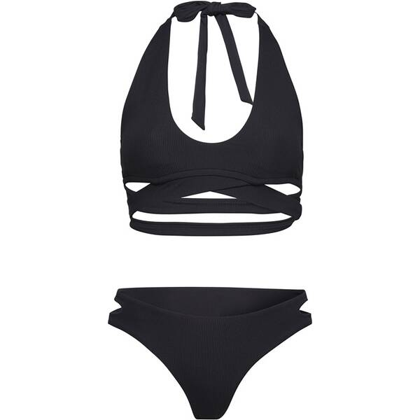 Bademode - CHIEMSEE Bikini in modischer Wickel Optik › Schwarz  - Onlineshop Intersport
