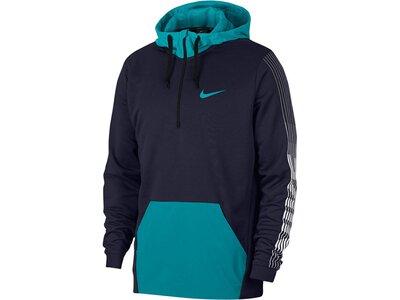 "NIKE Herren Trainings-Sweatshirt ""Dri-FIT Fleece"" Blau"