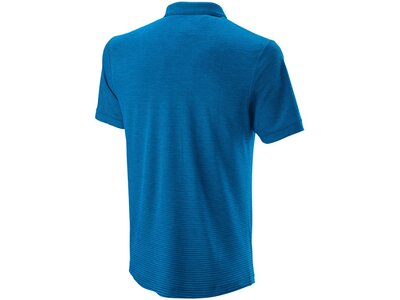 WILSON Herren Poloshirt Kurzarm Blau
