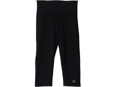 ADIDAS Damen Trainingstights / Fitnesshose Workout High Rise 3/4 Tight Braun