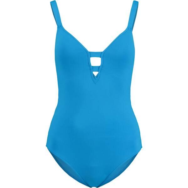 Bademode - SEAFOLLY Damen Badeanzug Active Deep V Maillot › blau  - Onlineshop Intersport