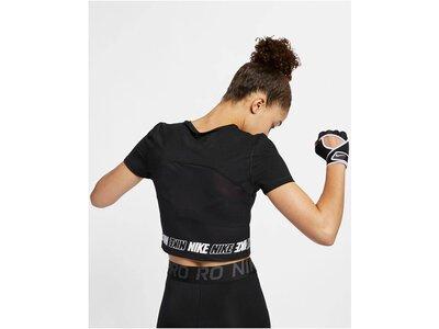 NIKE Damen Fitness-Shirt Kurzarm Schwarz