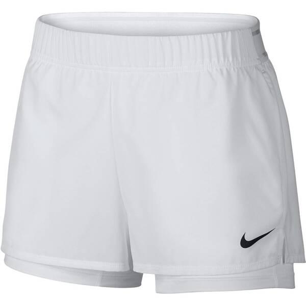 NIKE Damen Tennisshorts Flex | Sportbekleidung > Sporthosen > Tennisshorts | White | Nike