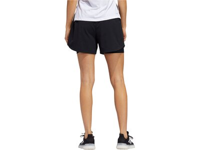 "ADIDAS Damen Trainingsshorts mit Innentights ""2 in 1 Woven Short"" Schwarz"