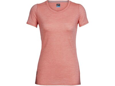 ICEBREAKER Merino Damen T-Shirt Sphere Short Sleeve Low Crewe Rot