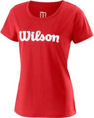 WILSON Damen Tennisshirt UWII Script Tech Tee Kurzarm