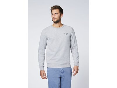 CHIEMSEE Sweatshirt einfarbig mit Logo Grau