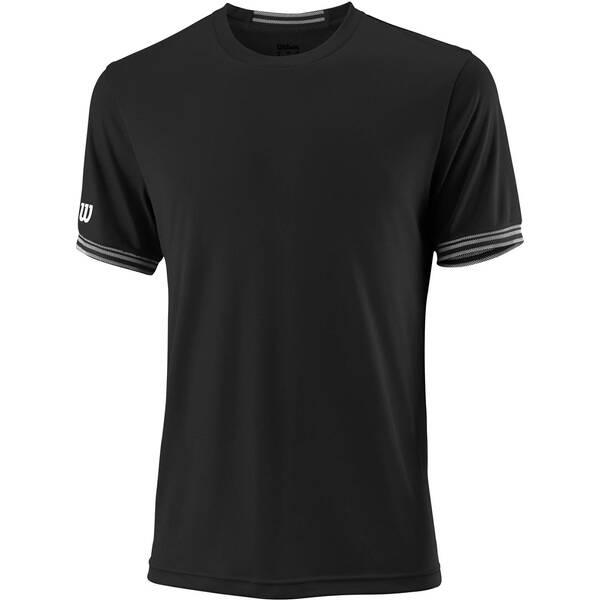 "WILSON Herren Tennisshirt ""Team Solid Crew"" Kurzarm"