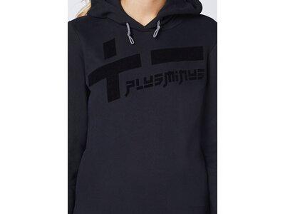 CHIEMSEE Kapuzen Sweatshirt mit PlusMinus Frontprint - GOTS zertifiziert Schwarz