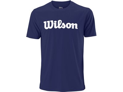 "WILSON Herren Tennisshirt ""UWII Script Tech Tee"" Kurzarm Blau"