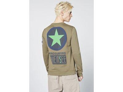 CHIEMSEE Unisex Sweatshirt mit großem CHIEMSEE Logo Grün