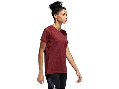 """ADIDAS Damen Fitness-Shirt """"Prime"""" Kurzarm Rot"""