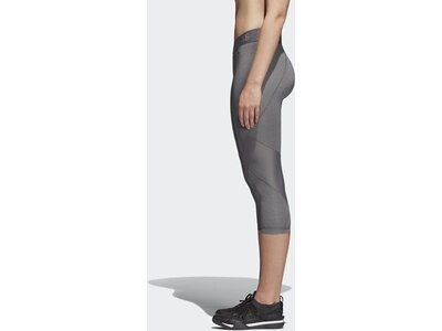 ADIDAS Damen Alphaskin Sport Heather 3/4-Tight Grau