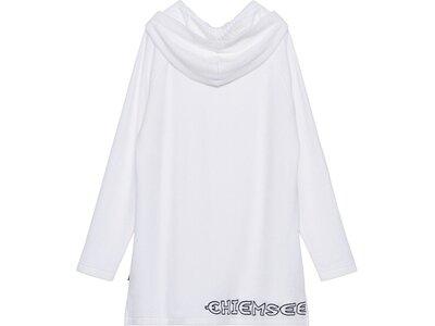 CHIEMSEE Kleid aus Frottee mit Kapuze Weiß