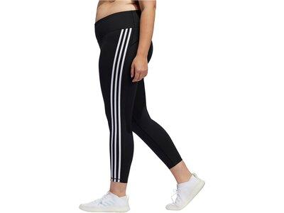 adidas Damen Believe This 3-Streifen 7/8-Tight – Große Größen Schwarz