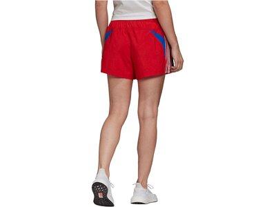ADIDAS Damen Shorts Rot