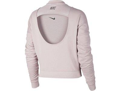 NIKE Damen Sweatshirt Dry Training Top Pink