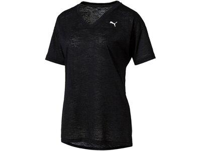PUMA Damen Trainingsshirt Boyfriend Tee Kurzarm Schwarz