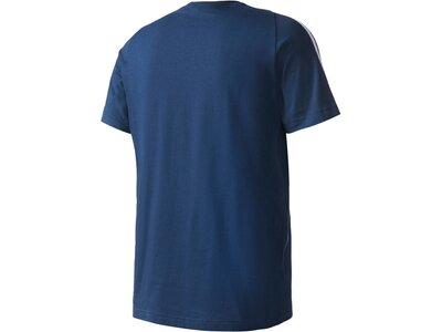 """ADIDAS Herren Trainingsshirt / T-Shirt """"Essentials 3 Stripes Tee"""" Schwarz"""