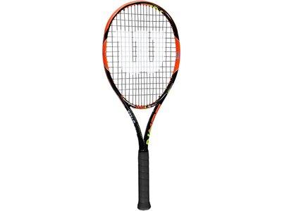WILSON Tennisschläger Burn 100LS - besaitet Schwarz