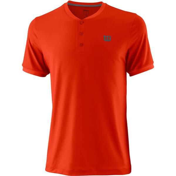 WILSON Herren Tennisshirt UWII Henley Kurzarm | Sportbekleidung > Sportshirts > Tennisshirts | Red | Polyester | WILSON