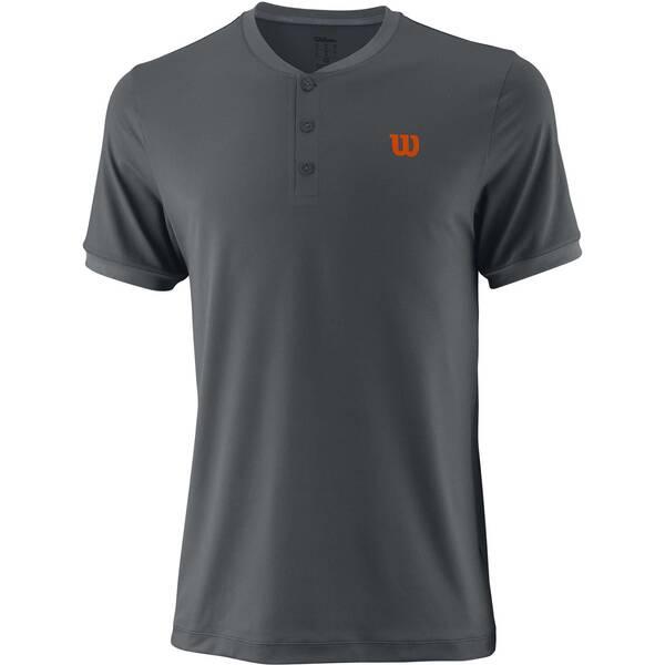 WILSON Herren Tennisshirt UWII Henley Kurzarm