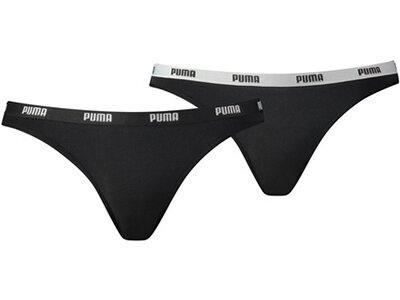 PUMA Damen Slip Iconic Bikini 2er-Pack Schwarz