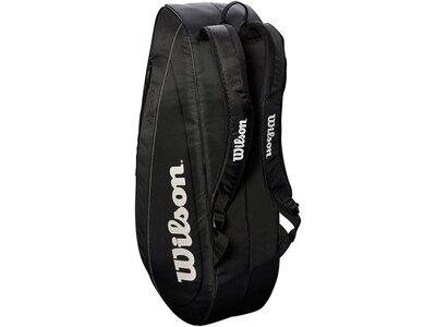"""WILSON Tennistasche """"Fed Team Coll. 6Pkg"""" Schwarz"""