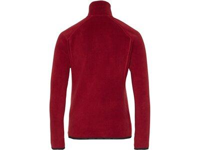 CHIEMSEE Fleece Pullover Slim Fit mit Reißverschluss Rot