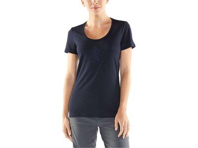 "ICEBREAKER Damen Outdoor-Shirt ""Tech Lite Short Sleeve Scoop Lancewood"" Kurzarm Schwarz"