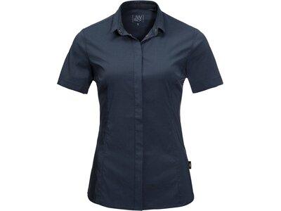 JACKWOLFSKIN Damen Bluse Kurzarm Blau