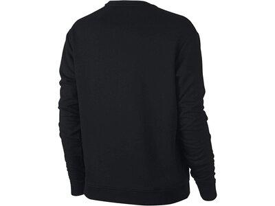 NIKE Damen Sweatshirt Dry Top Ls Crewneck Langarm Schwarz