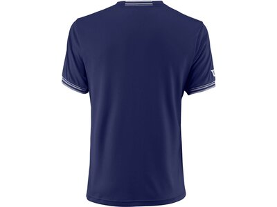 "WILSON Herren Tennisshirt ""Team Solid Crew"" Kurzarm Blau"