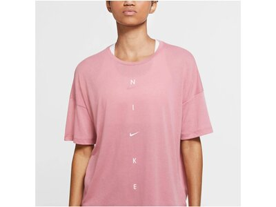 NIKE Damen Trainingsshirt Kurzarm pink