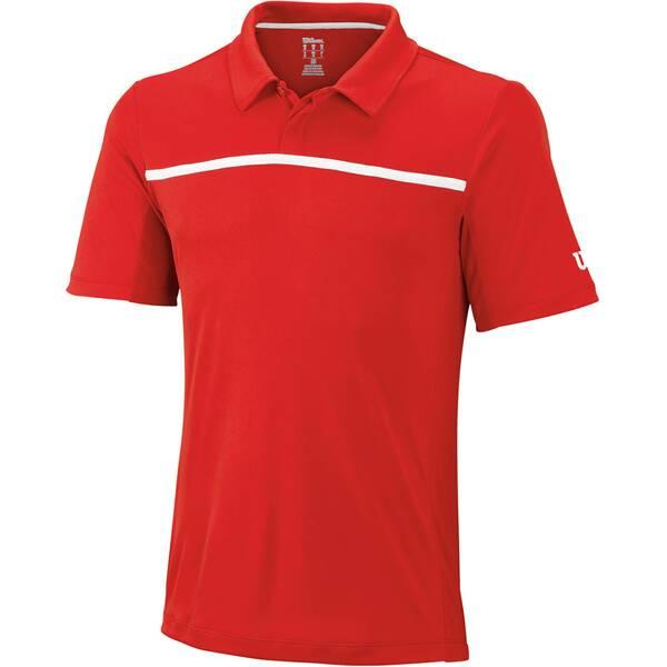 WILSON Herren Tennis Poloshirt Team Kurzarm