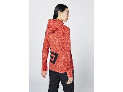 CHIEMSEE Fleece Jacke im Allover PlusMinus Design Rot