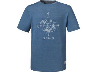 SCHÖFFEL Herren Outdoor-Shirt Kurzarm Blau
