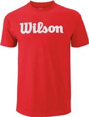 WILSON Herren Tennisshirt Script Cotton Tee Kurzarm