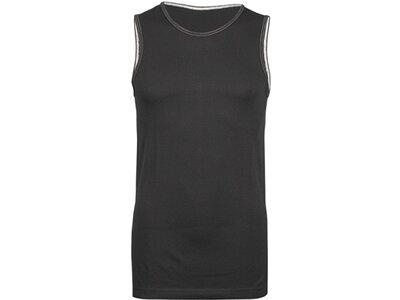 TAO Atmungsaktive Funktionsunterwäsche Herren Shirt ärmellos TANK TOP Schwarz
