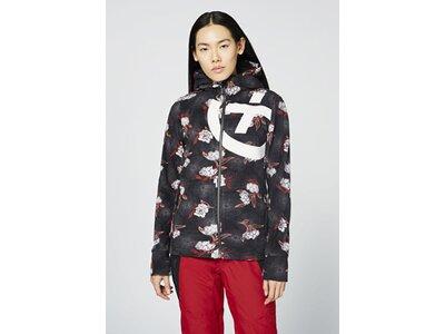CHIEMSEE Fleece Jacke im Allover PlusMinus Design Schwarz