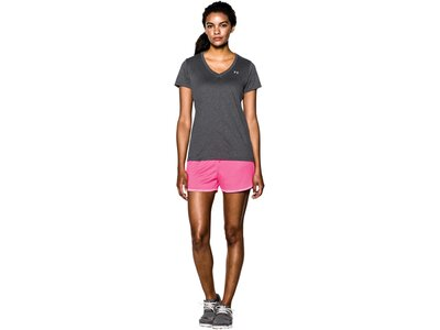 UNDERARMOUR Damen Trainingsshirt Kurzarm Grau